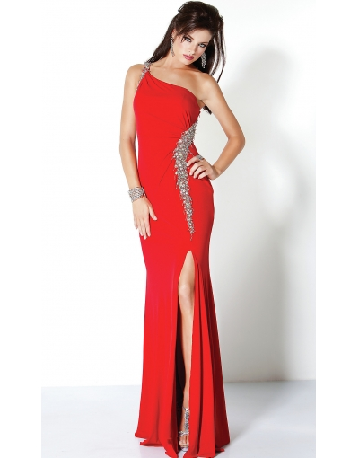 Front slit red formal dresses online