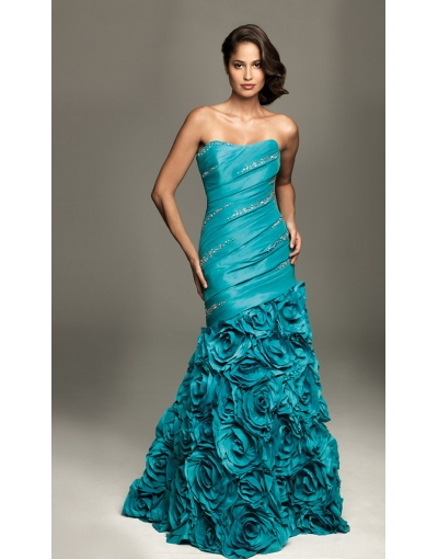 Roses Mermaid Prom Dress