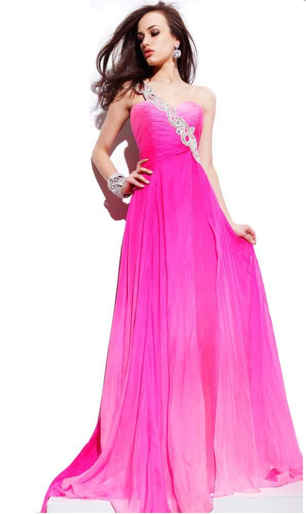 One Shoulder Prom Dress at PERSUN