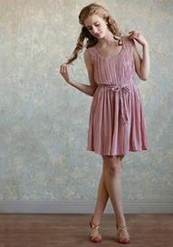 Sweet Pink Bridesmaid Dress