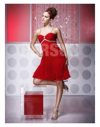 Sexy Spaghetti Red Short Homecoming Dress