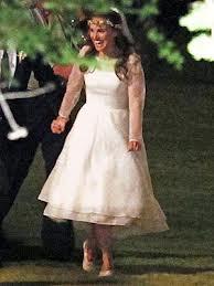 Natalie Portman Long Sleeve Wedding Gown 2012