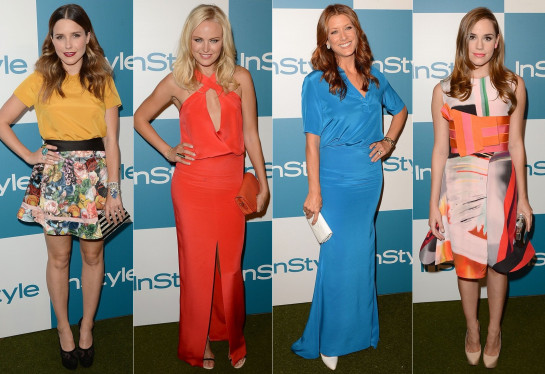 instyle party 2012 celebrity dresses