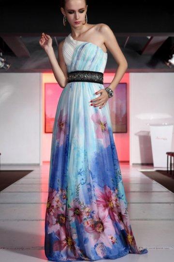 Floral prints dress with belt