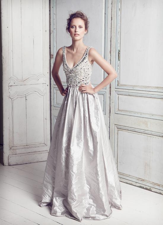 Silver-luxury-wedding gowns