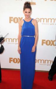blue evening gown