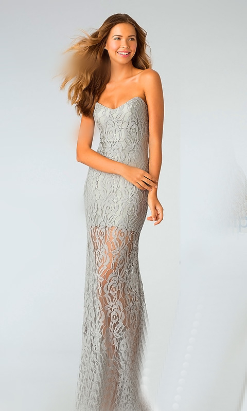 silver-dress-in-lace-for-wedding-evening-party