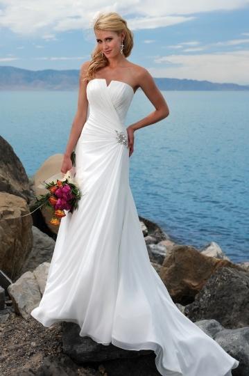 buy discount strapless wedding dresses UK 2015