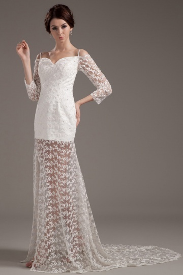 buy discount sexy lace wedding gowns UK 2015