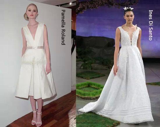 2016 v neck wedding gowns