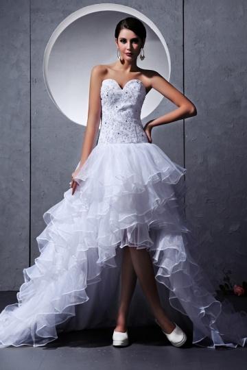 buy discount white organza wedding dresses UK online