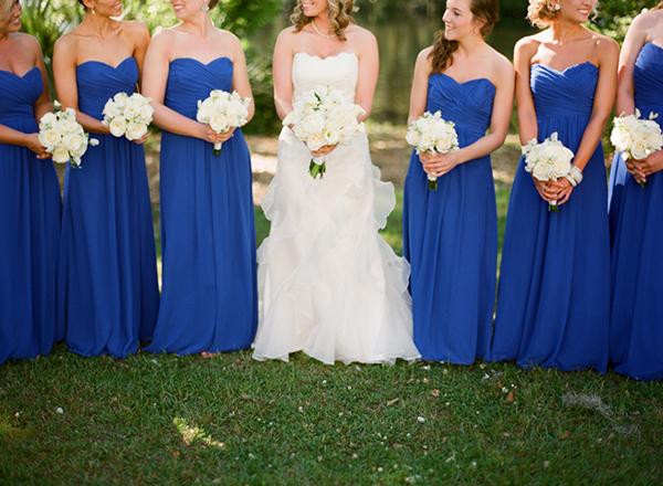 Royal Blue cortege in a themed wedding