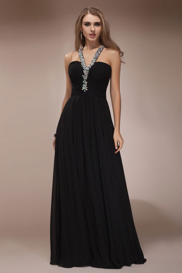 buy cheap black evening gowns Persun online