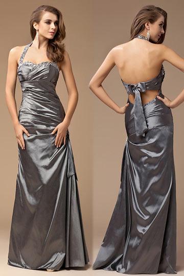 buy discount silver evening dress 2015