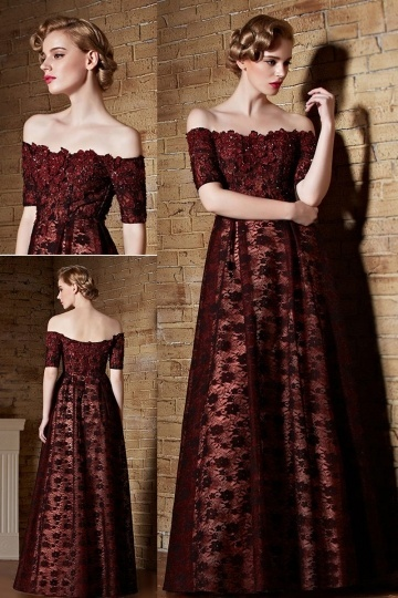 buy cheap off the shoulder  evening gowns online