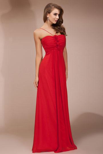 Buy cheap long spaghetti red  evening dresses online