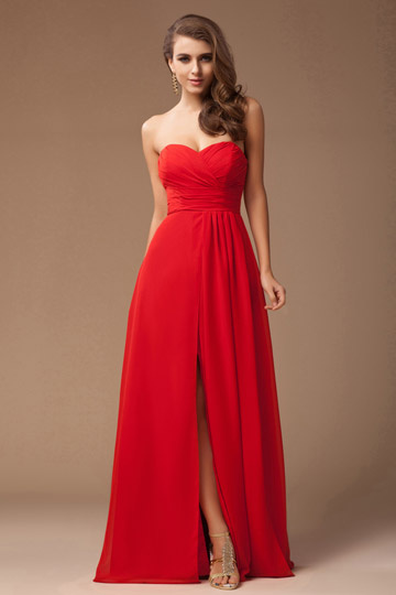 buy discount sweetheart red evening dresses Online