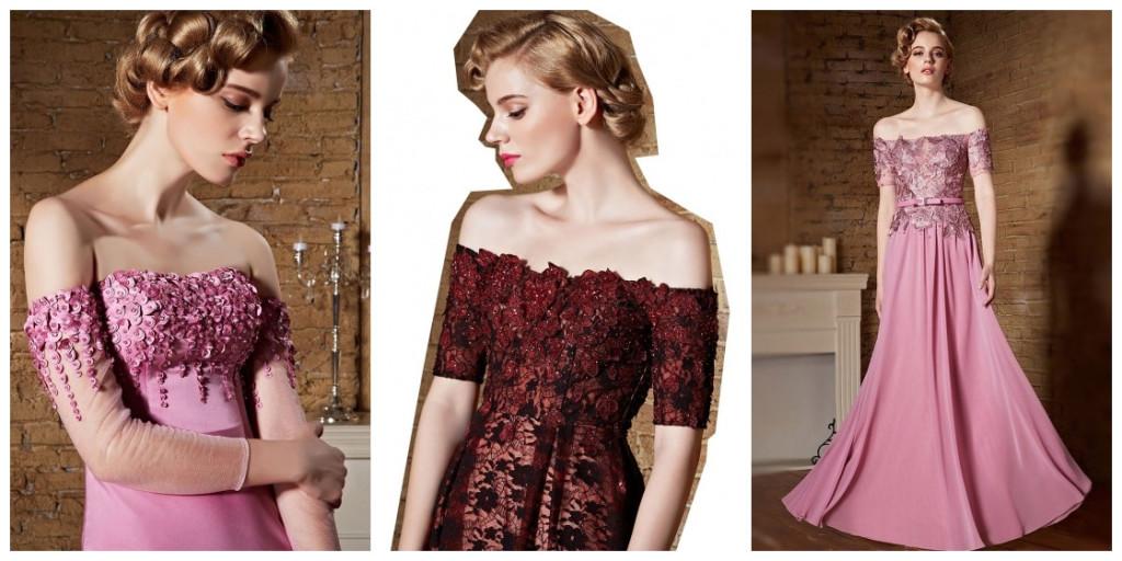 Buy discount off the shoulder evening dresses Persun