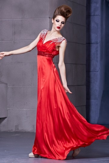 buy discount beading red evening dresses online