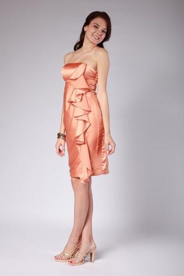 buy discount strapless short evening dresses UK online