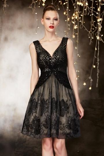 buy discount short black evening gowns UK online
