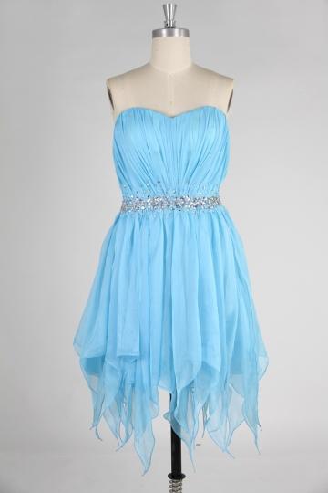 Buy discount beaded blue evening dresses online