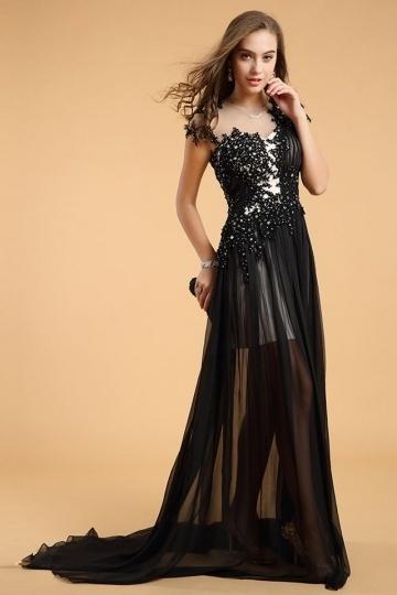 Buy discount  black evening dresses Persun online