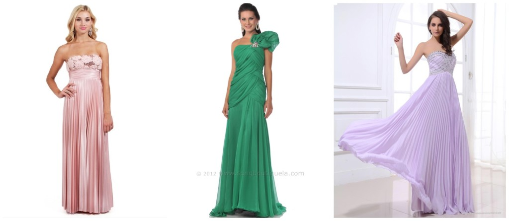 buy cheap pleated evening dresses online