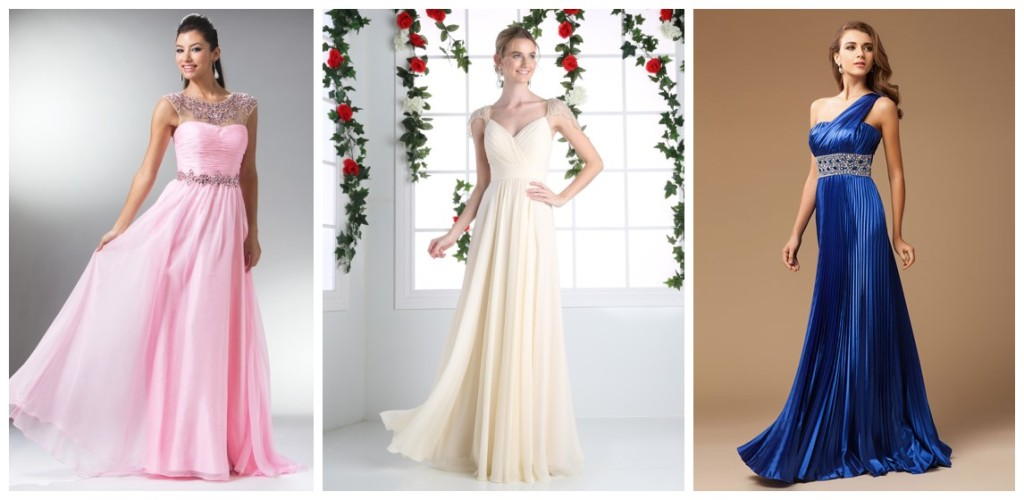 Buy pleated evening dresses online