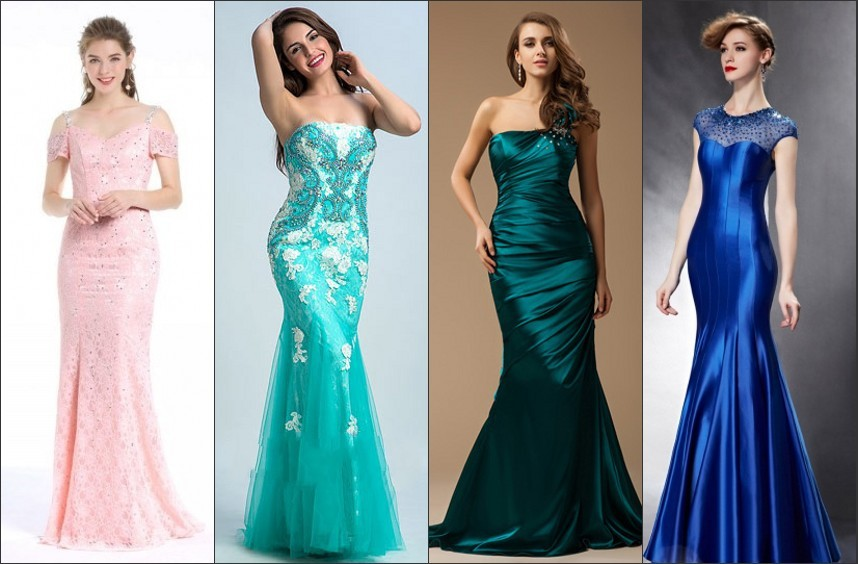 Mermaid Sweetheart Strapless Long Prom Dress