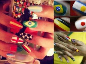 World Cup theme Nails
