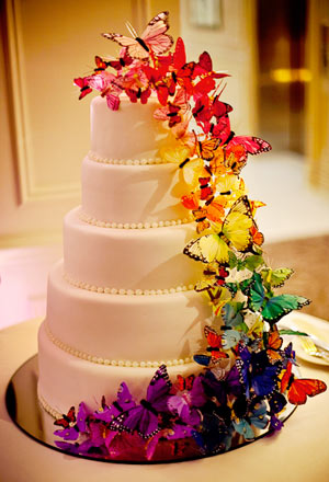 Rainbow-Butterfly-Wedding-Cakes
