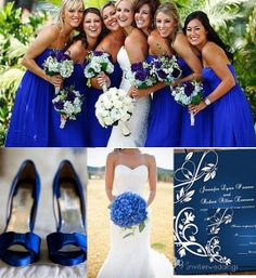 royal blue wedding tone