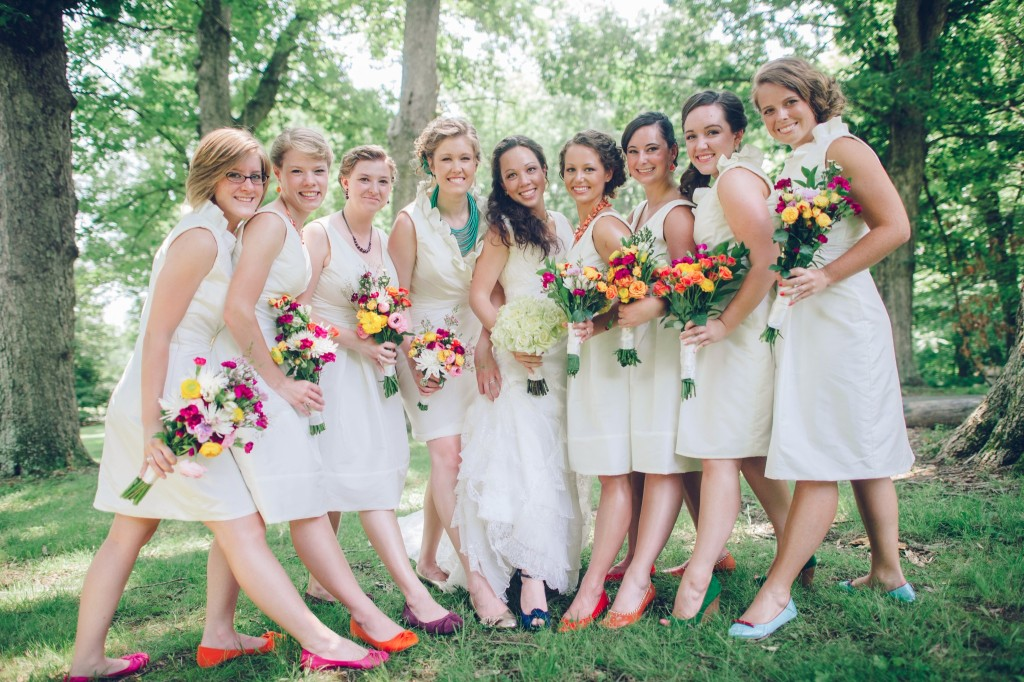 Bridesmaid.dresses with White Shoes