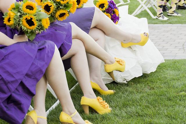 yellow bridesmaid shoes